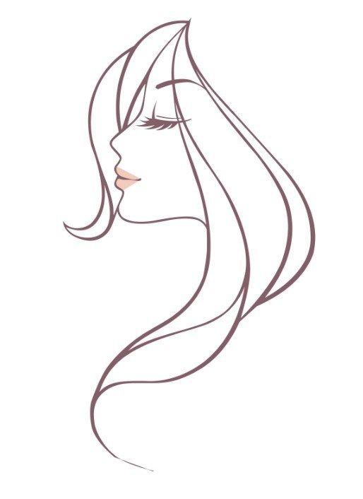 Free Beautiful Woman Head Vector Illustration