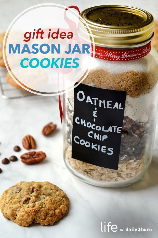 Oatmeal Chocolate Chip Mason Jar Cookies Recipe