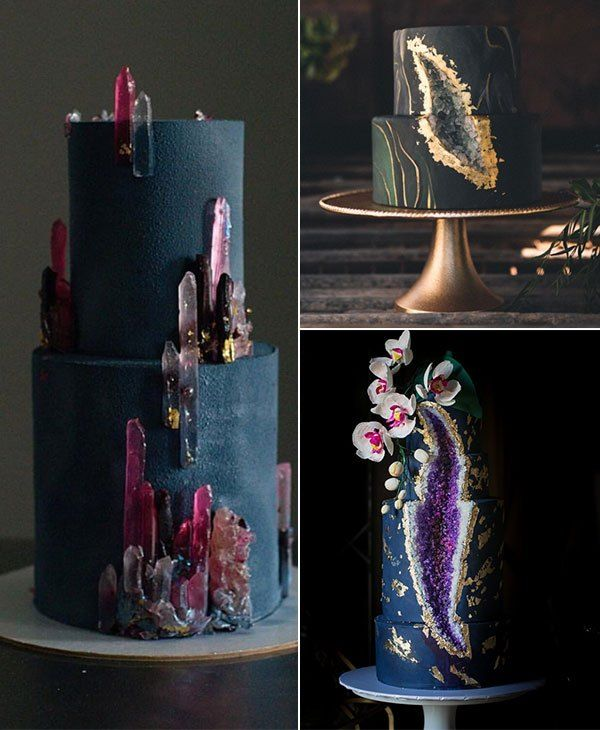 Sparkling Geode Wedding Cakes – Trendy Wedding Ideas Forevermorebling Wedding Blog