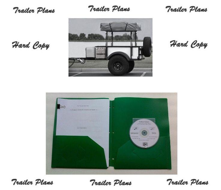 Hard Copy - 4 x 6 Off Road Tent Trailer Plans, Instructions & Materials List. #NorthwestOutdoors