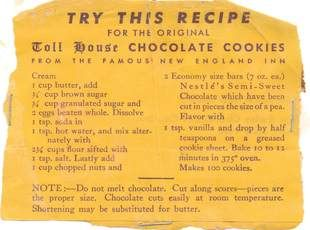 ABSOLUTELY ORIGINAL TOLL HOUSE CHOCOLATE COOKIES Recipe | Just A Pinch Recipes