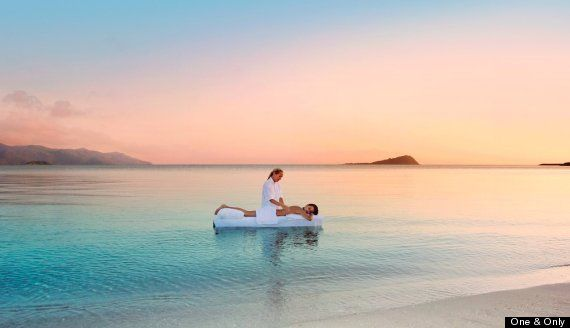 At this Australia hotel you can get a massage in the ocean #dream #vacation