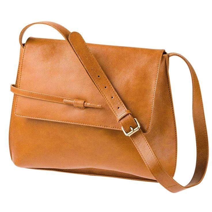 Taschen und Rucksäcke : Schultertasche mit Magnet- und Knebelverschluss, Schulterriemen verstellbar, eco-Leder, 32x30x6