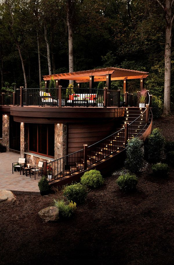 20 Timber Decking Designs That Can Append Beauty Of Your: Best 25+ Hillside Deck Ideas On Pinterest