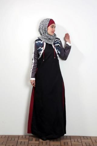 Modern sporty jilbab, its colors adds a dynamic touch to your look, its fabric and design make you feel comfortable. #hijab #hijabista #hijabstyle #hijabfashion #hijablook