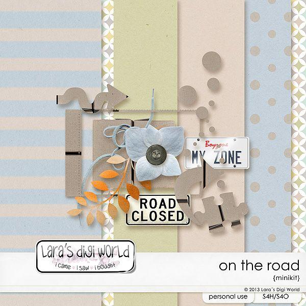 On the Road digital scrapbooking freebie