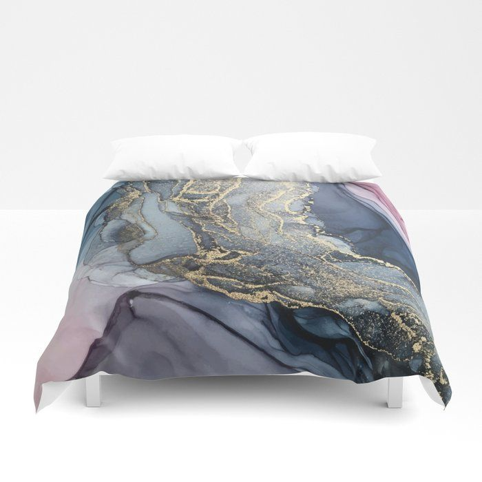 Buy Blush Payne S Gray And Gold Metallic Abstract Duvet Cover By