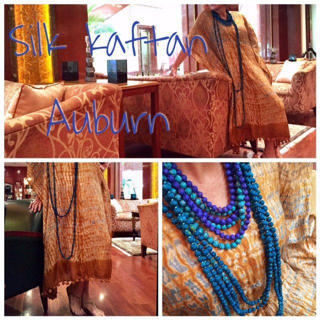 Silk Kaftan - Auburn