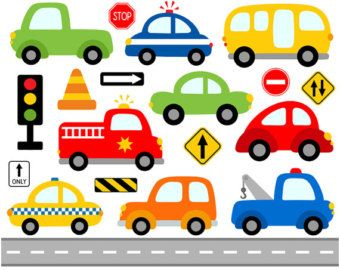 Cars Digital Clip Art Transportation Clipart Blue by YarkoDesign