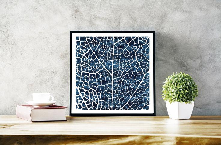 Abstract Art Print, originele grote Print, wit blauw, hedendaagse kunst moderne blad patroon Print, botanische blad afdrukken, botanische Poster door WonderlinaShop op Etsy https://www.etsy.com/nl/listing/484415243/abstract-art-print-originele-grote-print