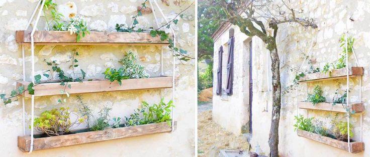 Tuto : Fabriquez une jardinière suspendue en palette.   Réalisé par : Talalilala.com