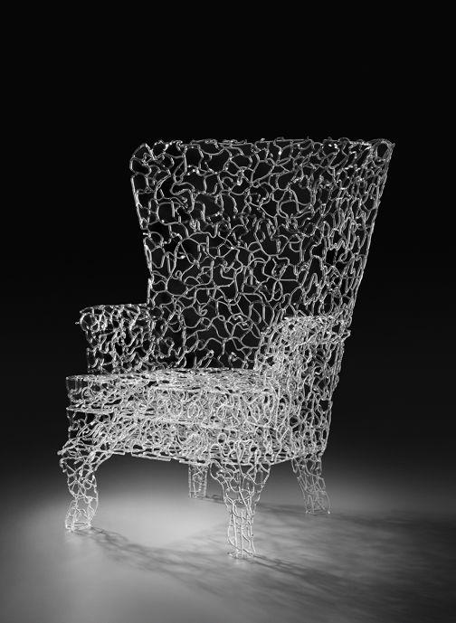 "Brent Kee Young - MATRIX SERIES: ""RESPITE"", Pyrex Glass, 39"" x 37"" x 38"""