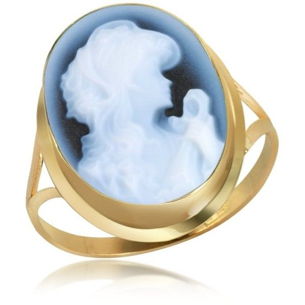 Del Gatto Woman Agate Cameo 18K Gold Ring ($298) ❤ liked on Polyvore featuring jewelry, rings, accessories, 18 karat gold jewelry, gold jewelry, gold jewellery, 18k jewelry and yellow gold jewelry