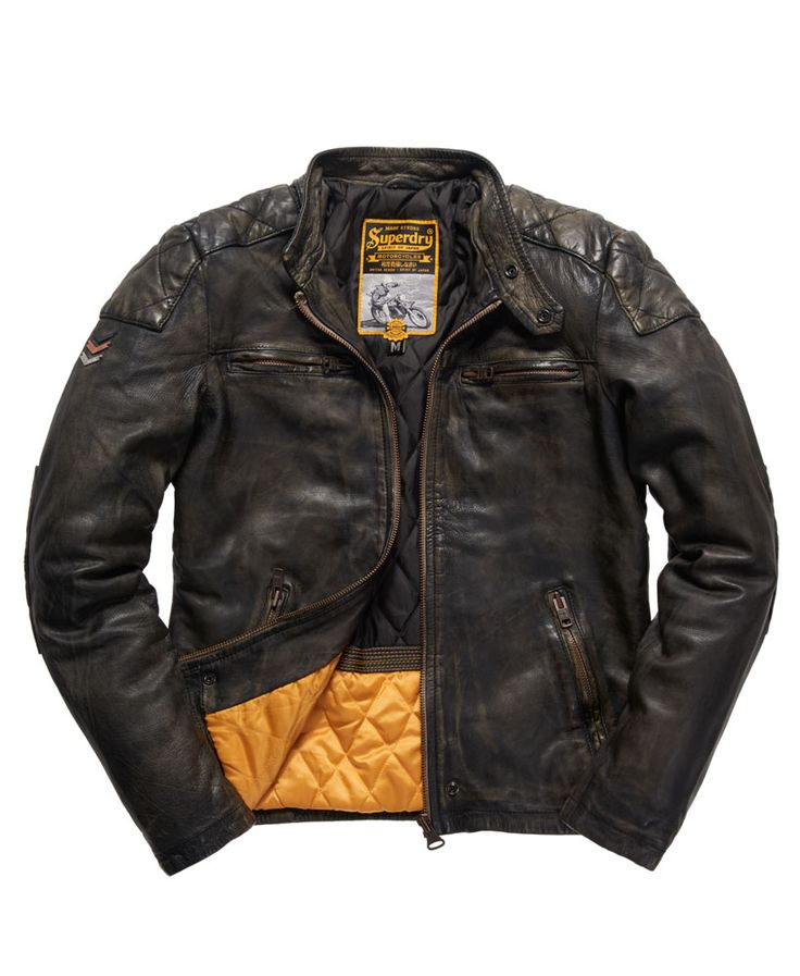 Superdry Real Trials Leather Jacket - Men's Jackets