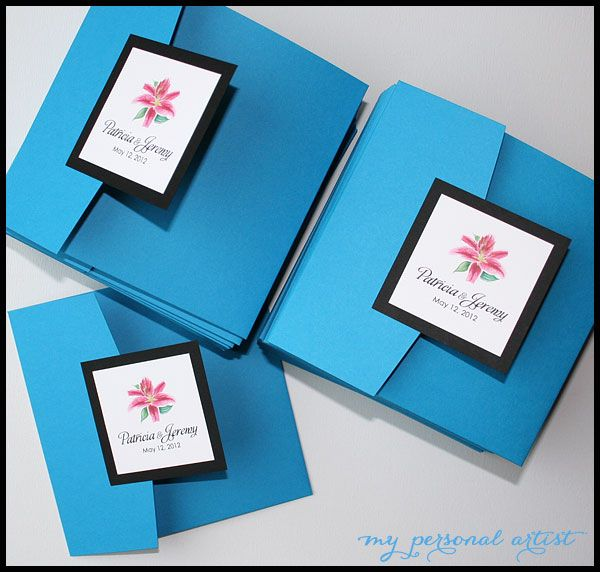 33 best wedding card ideas images on pinterest card wedding card blue pocket folder invitations lovely handmade blue wedding invitation card stopboris Image collections