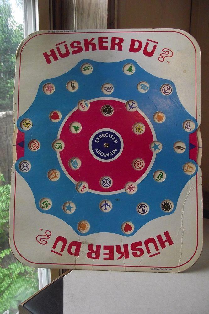 Husker Du Memory Exerciser Board Game Vintage 1970 Original Pieces Made In USA F #HuskerDu