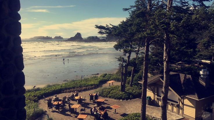 View from our hotel at Tofino British Columbia