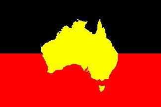 [Aboriginal flag variation]