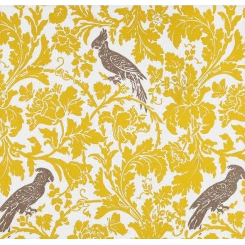 A Cockatoo Bright Yellow Home Decor Fabric - Order Online - Fabric Traders