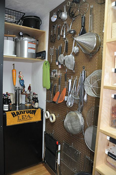 A pegboard in the pantry this may come in handy for Perfect kitchen organization