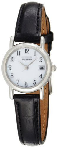 Citizen Women's EW1270-06A Eco-Drive Leather Watch Citizen. $102.00. Stainless-steel case; bone white dial; date function. Water-resistant to 99 feet (30 M). Durable, hardened mineral crystal. Light powered eco-drive Japanese-quartz movement; charges in natural sunlight or indoor light. Case diameter: 23 mm. Save 32% Off!