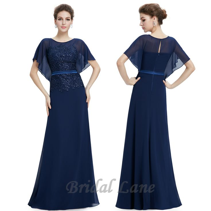 Navy blue bat sleeve evening dress.  Evening dresses for matric ball / matric farewell in Cape Town - Bridal Lane ♥