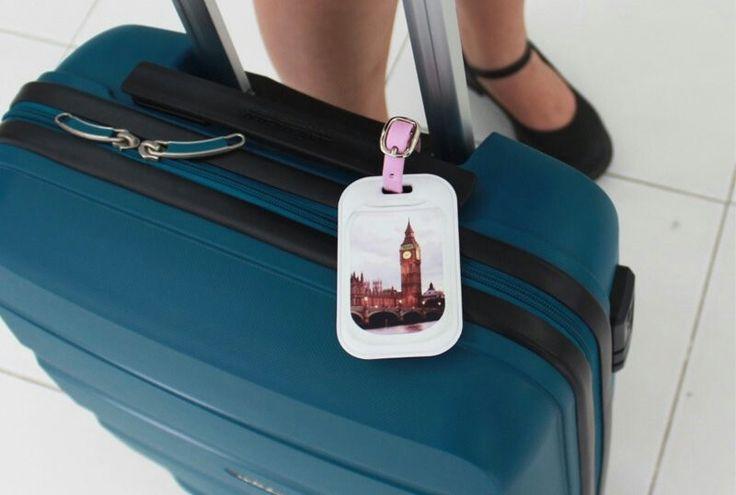 Plane window luggage tag