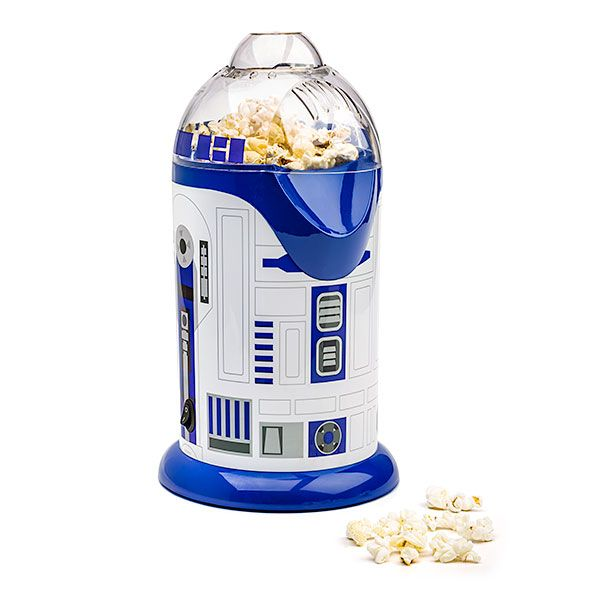 If you love, light and fluffy air-popped popcorn, then this is the droid you are looking for! The R2-D2 Popcorn Maker blows out fluffy, healthy popcorn for consumption during all your favorite films.