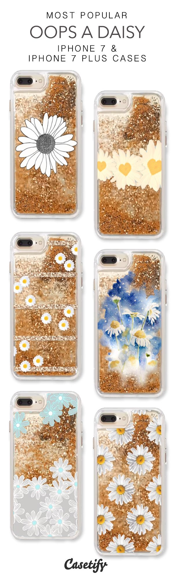 Most Popular Oops A Daisy iPhone 7 Cases & iPhone 7 Plus Cases. More glitter iPhone case here > https://www.casetify.com/en_US/collections/iphone-7-glitter-cases#/?vc=LOg6X3Qzyi