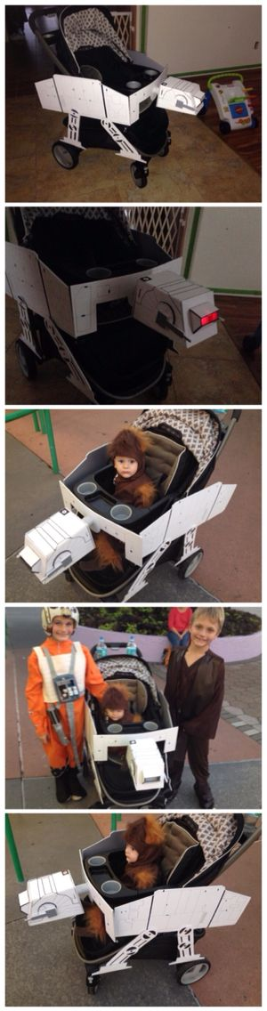 Star Wars at-at walker stroller conversion for infant Star Wars halloween or convention costume.