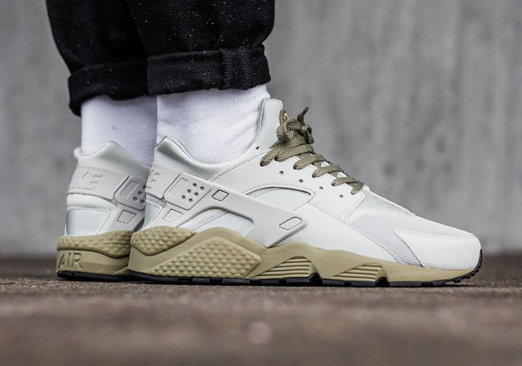 Light Bone And Neutral Olive Come Together On This Nike Air Huarache