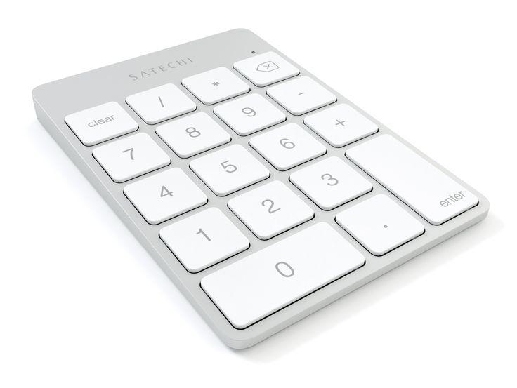 Satechi Slim Wireless Keypad, Ziffernblock, Bluetooth, silber   Online kaufen im GRAVIS Shop - Autorisierter Apple Händler