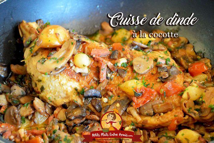 Cette recette de cuisse de dinde à la cocotte donneune viande moelleuse et goûteuse. Mijotée à la cocotte, cette cuisse de dinde à la chair fondante peut se déguster avec de nombreux accompagnemen…