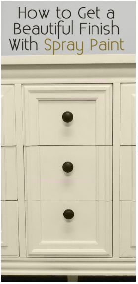 How to get a beautiful finish on your furniture with spray paint