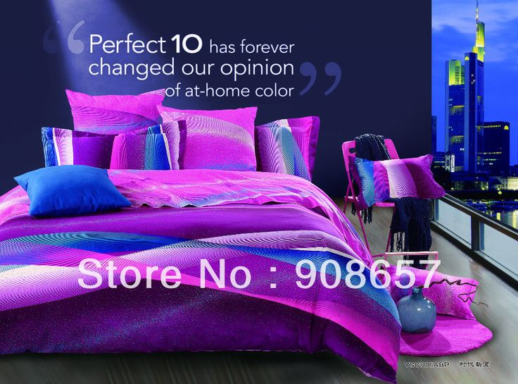 226 best house room ideas images on pinterest - Purple and blue comforter sets ...