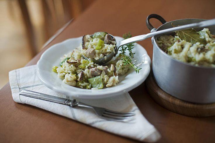 risotto met gehakt en groenten