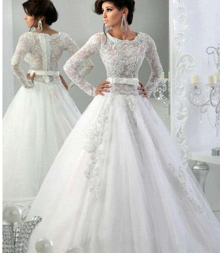 Affordable Wedding Gowns Hot Luxury Wedding Dresses With Long Sleeves A Line Scoop Applique Crystals Beading Plus Size Bridal Gowns Muslim Vestido De Noiva Search Wedding Dresses From Voguedesign, $146.6| Dhgate.Com