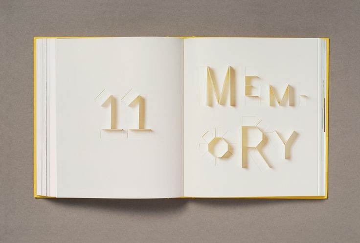 Paper Alphabet for Sculpture Today designed by Sonya Dyakova for Phaidon in 2007