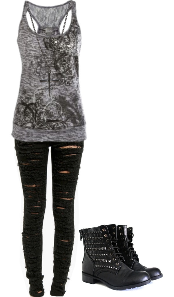 U0026quot;Untitled #586u0026quot; by bvb3666 liked on Polyvore | My Style | Pinterest | Polyvore Clothes and Punk