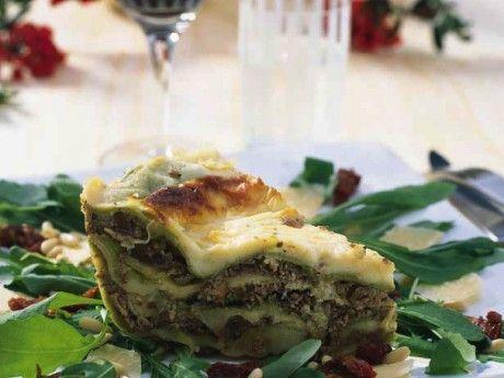 Lasagne med renskav och getost Receptbild - Allt om Mat