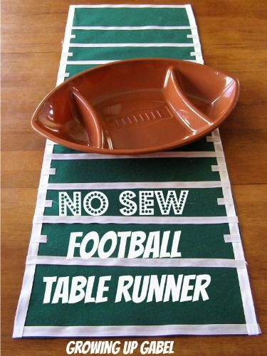 Growing Up Gabel: No-Sew Football Field Table Runner