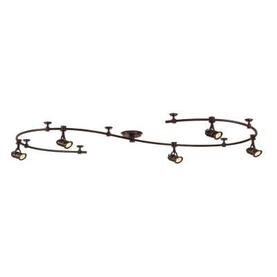 Hampton Bay 5-Light 10 ft. Antique Bronze Retro Pinhole Flexible Track Lighting Kit