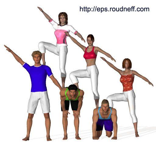Eps sport figurines 3D - 4: Acrogym - Pyramides à 6