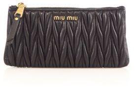 Miu Miu Matelasse Leather Zip Pouch