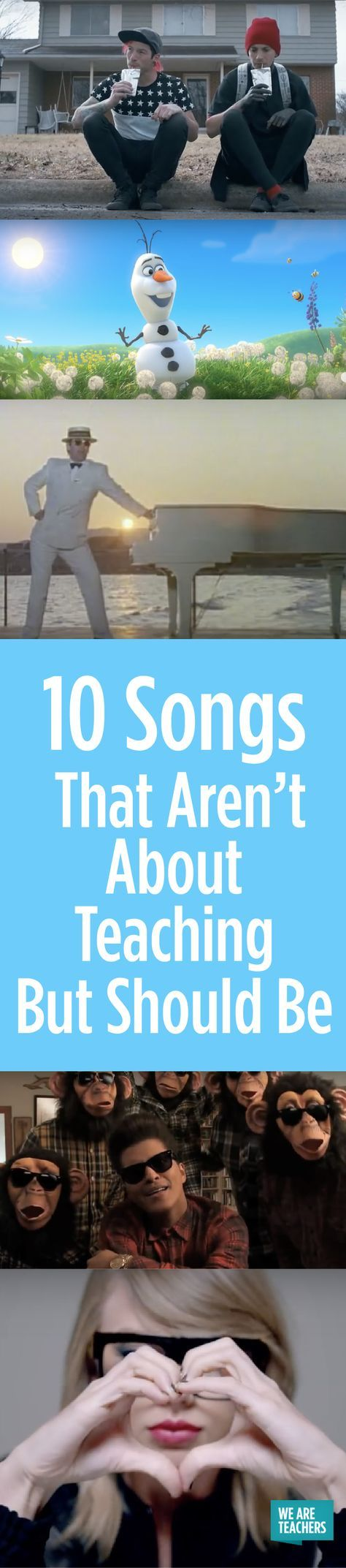 10 Songs That Aren't About Teaching … But Should Be - WeAreTeachers