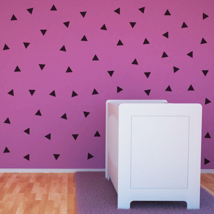 Triangle Magnetic Decals #magnormous #kidsbedroomideas