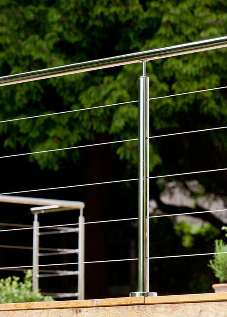 Balkongeländer aus Edelstahl und Glas mit LED-Licht Q-LINE TONDINO Kollektion Q-line ® by Q-RAILING ITALIA