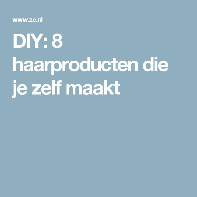 DIY: 8 haarproducten die je zelf maakt