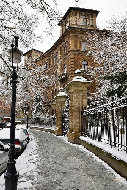 Winter in Kodaly Circus, Budapest, Hungary