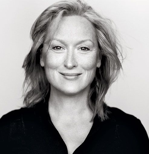 """Only she can say this -- """"It's my favorite one because they scraped all the crap off my face,"""" Streep"""